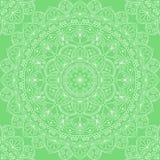 låter vara den gröna illustrationen för blommor mandalamodellen seamless signaler Arkivbilder