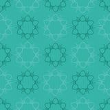 låter vara den gröna illustrationen för blommor mandalamodellen seamless signaler Arkivfoto