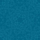 låter vara den gröna illustrationen för blommor mandalamodellen seamless signaler Arkivbild
