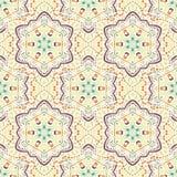 låter vara den gröna illustrationen för blommor mandalamodellen seamless signaler Royaltyfria Bilder