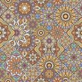 låter vara den gröna illustrationen för blommor mandalamodellen seamless signaler Indiska dekorativa element Vektorillustration a royaltyfri illustrationer