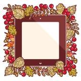 låter vara den isolerade härliga ramen för hösten verklig white Mall för en formgivare stock illustrationer