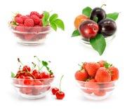 låter vara glass green för nya frukter vasen Arkivfoton