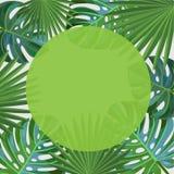 låter vara tropiskt Fyrkantig ram Stock Illustrationer
