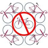 låtna cyklar här inte Arkivfoto