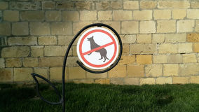 låtna hundar inget tecken royaltyfri fotografi