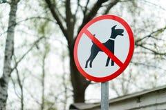 låtna hundar inget tecken Royaltyfria Foton