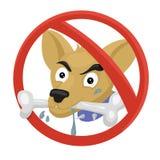 låtna hundar inte Royaltyfri Fotografi