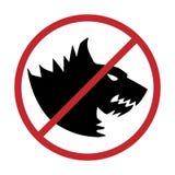låtna hundar nr Hundförbudtecken, stock illustrationer