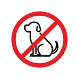 låtna hundar nr Hundförbudtecken stock illustrationer