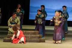 """Låtsa till sömn-Shanxi Operatic""""Fu Shan till Beijing† Royaltyfria Foton"""