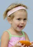 lèchement des languettes Photos stock