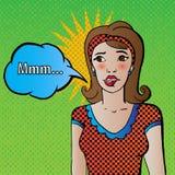 Lèvre acérée de femme de vecteur d'art de bruit Image libre de droits