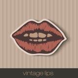 Lèvres de papier de vintage Images stock