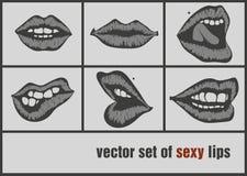 Lèvres de papier foncées Images stock