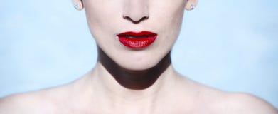 Lèvres du ` s de femme Image libre de droits