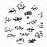 Lèvres réglées, illustration de vecteur