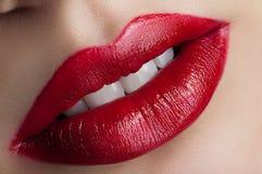Lèvres rouges classiques Photos libres de droits