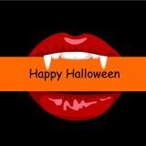 Lèvres rouges de vampire Image stock