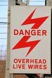 Légère brûlure de station de courant électrique Photos libres de droits