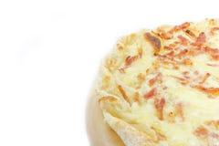 Légèrement pizza avec le lard et le fromage Images stock