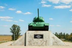 Légendaire du réservoir moyen soviétique T-34 de la deuxième guerre mondiale Image libre de droits