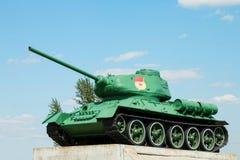 Légendaire du réservoir moyen soviétique T-34 de la deuxième guerre mondiale Photo libre de droits
