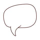 Légende de rectangle arrondie par silhouette pour le dialogue Image stock