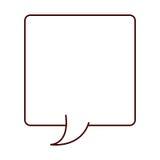 Légende de rectangle de silhouette pour le dialogue Photos stock