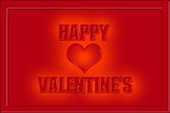 Légende heureuse de valentines dans les lettres rouges Images libres de droits