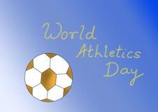 Légende pour le jour d'athlétisme du monde illustration libre de droits
