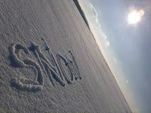 Légende Sunny Sky de neige Images libres de droits