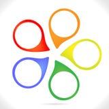 Légendes colorées Photos libres de droits