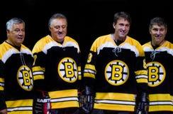 Légendes de Boston Bruins Photos libres de droits