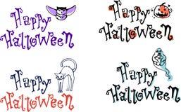 Légendes heureuses de couleur de Halloween Photographie stock libre de droits