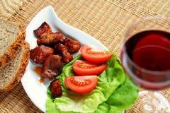 léger déjeuner - viande Images stock