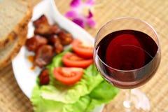 Léger déjeuner - viande Image stock
