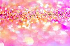 Or léger d'or abstrait de fond de Bokeh Images stock
