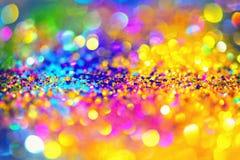 Or léger d'or abstrait de fond de Bokeh Photo libre de droits