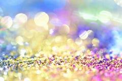 Or léger d'or abstrait de fond de Bokeh Image libre de droits
