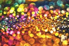 Or léger d'or abstrait de fond de Bokeh Photos libres de droits