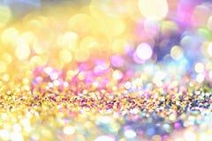Or léger d'or abstrait de fond de Bokeh Photographie stock libre de droits