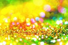 Or léger d'or abstrait de fond de Bokeh Images libres de droits