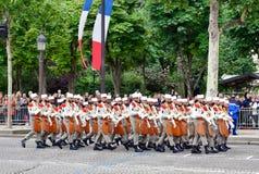 Légion étrangère à un défilé militaire dans la République DA Image libre de droits