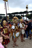 Légionnaires au défilé historique de Romains antiques Images libres de droits