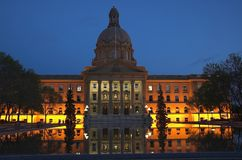 Législature d'Alberta, Edmonton photos stock