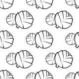 Légume abstrait de chou d'ensemble sans couture Photographie stock libre de droits