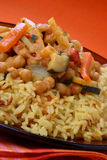 légume de sauce à riz de viande Photo stock