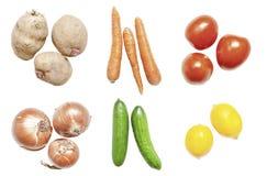 Légume différent sur le fond blanc images stock