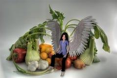 Légume et ange HDRI. Images libres de droits